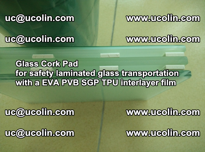 EVA Glass Cork Pad for safety laminated glass transportation with a EVA PVB SGP TPU interlayer film (38)