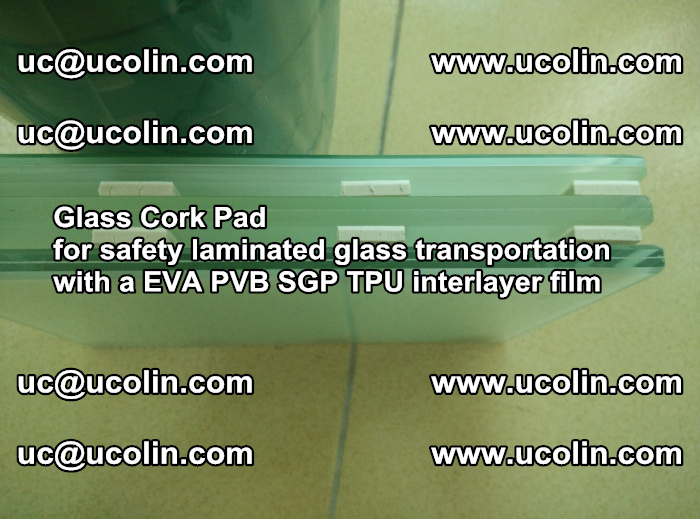 EVA Glass Cork Pad for safety laminated glass transportation with a EVA PVB SGP TPU interlayer film (45)